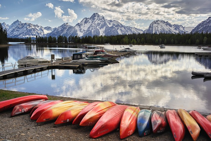 Canoes at Colter Bay, GTNP