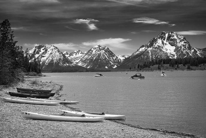 Tetons Range from Signal Mountain Marina