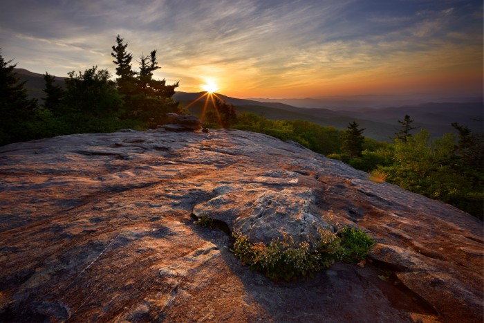 Sunrise Glow at Beacon Ridge, Blue Ridge Parkway near Grandfather Mountain