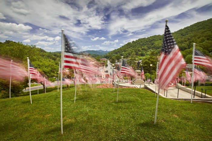 Old Glory looks over Sylva, NC - Memorial Day, 2019